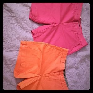 Summer shorts new with tags pink and orange
